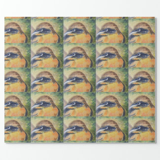 Fierce Yellow and Black Bird Wrapping Paper