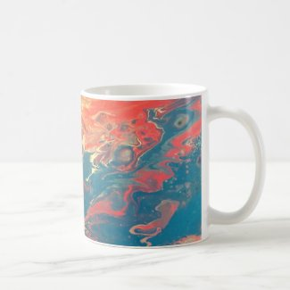 Fiery Abstract Designed Mug