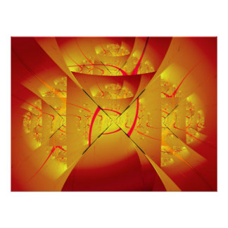 Fiery Angel 2 Fine Fractal Art Poster
