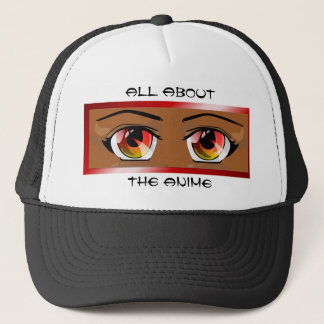 Fiery Anime Eyes Hat