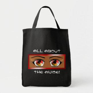 Fiery Anime Eyes Tote Bag