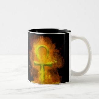 Fiery Ankh Mug