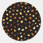 Fiery Autumn Leaves Stickers