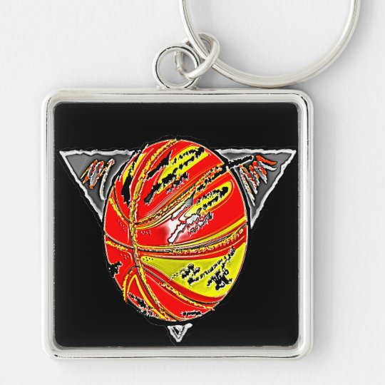 FIERY BASKETBALL KEYCHAIN