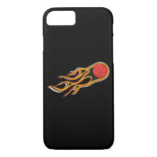 Fiery Basketball with Comet Tail Logo iPhone 7 Case