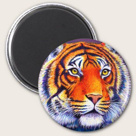 Fiery Beauty Colorful Bengal Tiger Magnet