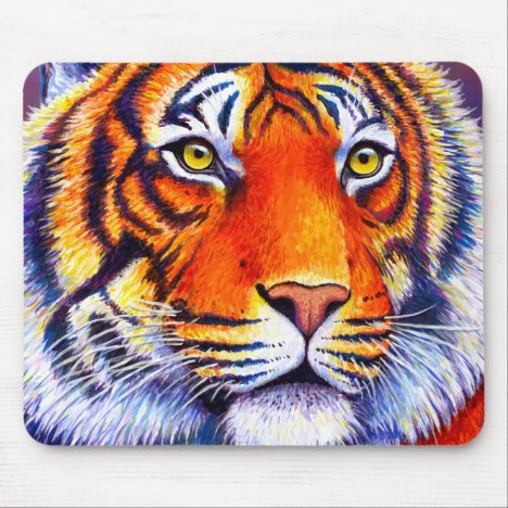 Fiery Beauty Colorful Bengal Tiger Mouse Pad
