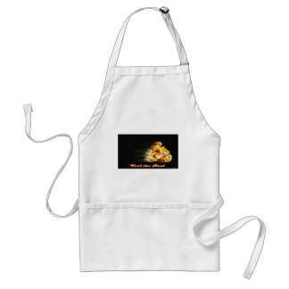 Fiery Biker Motorcycle Fantasy Art Adult Apron