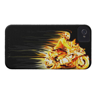 Fiery Biker Motorcycle Fantasy Art Case-Mate iPhone 4 Case
