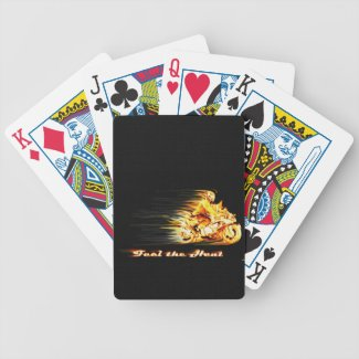 Fiery Biker Motorcycle Fantasy Art Deck Of Cards