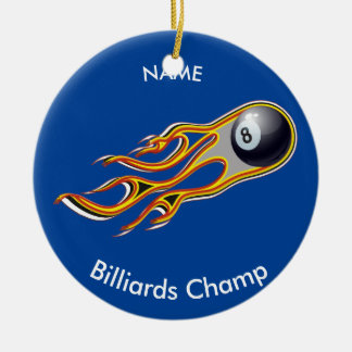 Fiery BILLIARD BALL Comet Personalized Ceramic Ornament