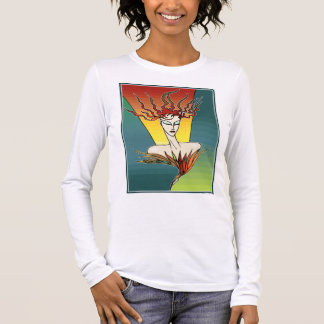 Fiery Bird Woman Long Sleeve T-Shirt