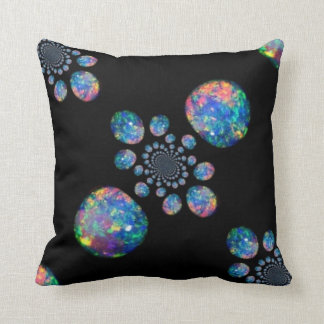 Fiery Blue Opal Jeweled Pillow by Sharles