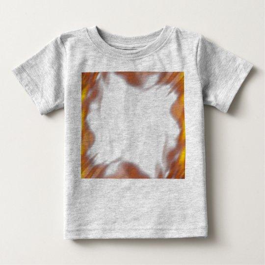 Fiery Burning Flames Border Baby T-Shirt