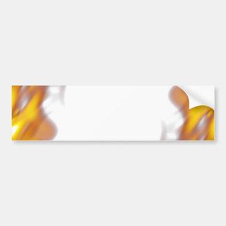 Fiery Burning Flames Border Car Bumper Sticker