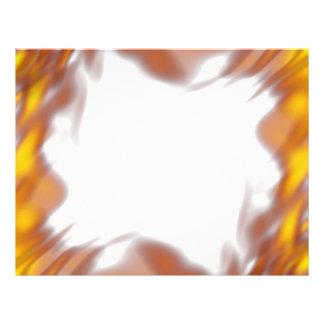 Fiery Burning Flames Border Flyer