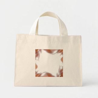 Fiery Burning Flames Border Mini Tote Bag