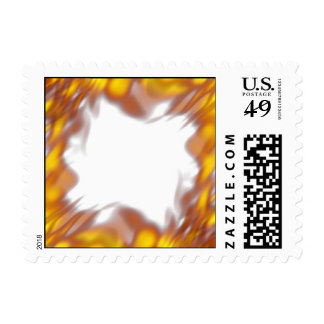 Fiery Burning Flames Border Postage