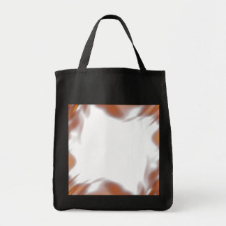 Fiery Burning Flames Border Tote Bag