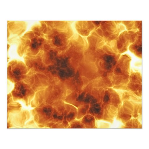 Fiery burning inferno explosion photo print
