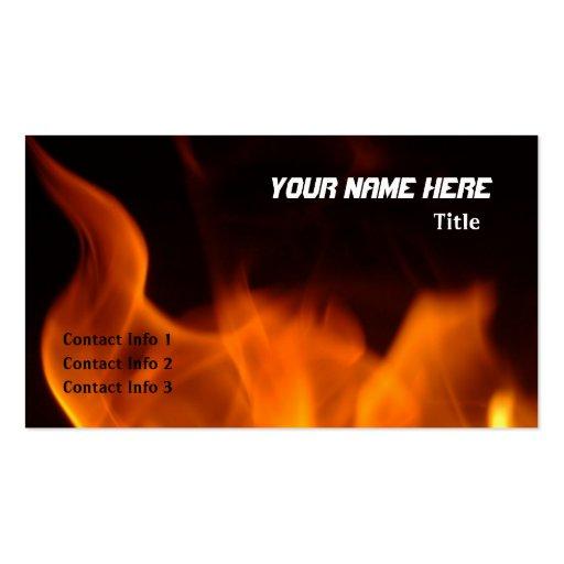 Fiery Business Card