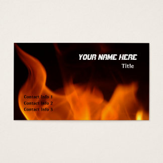 Fiery Business Card