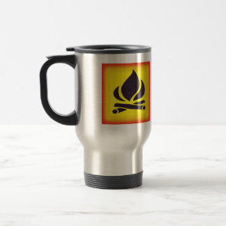 Fiery Campfire Travel Mug