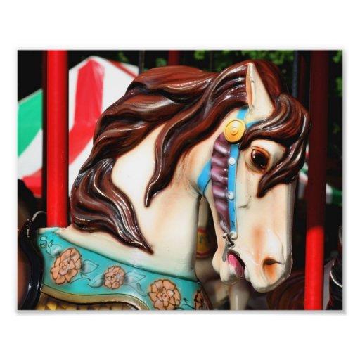 Fiery Carousel Horse 10x8 Print Photo