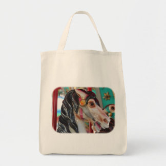 Fiery Carousel Horse Tote Bag
