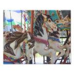Fiery Carousel Horse Trio 10x8 Photo Print