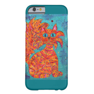 Fiery Cat on Turquoise Barely There iPhone 6 Case