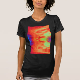 Fiery Cirrus Clouds and Submereged Indiglo Trees T-Shirt