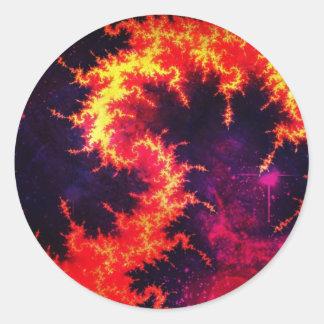 Fiery Classic Round Sticker