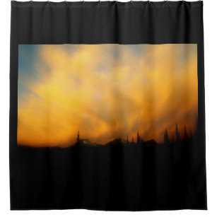 Fiery Clouds   Clouds On Fire Shower Curtain