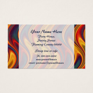Fiery colors business card