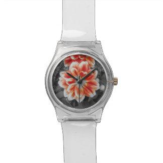 Fiery Dahlias Wrist Watches