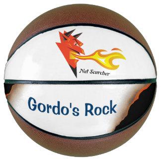 Fiery devil's head Net Scorcher Personalized Basketball