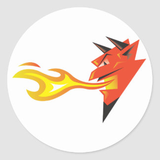 Fiery Devil's Head decal Classic Round Sticker