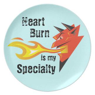 Fiery Devil's Head_Heart Burn is my Specialty Dinner Plate