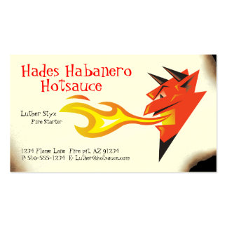 Fiery Devil's Head_Hot Sauce_Spicy Foods Business Card