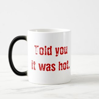 Fiery Devil's Head mug
