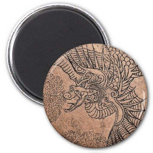 Fiery Dragon 2 Inch Round Magnet