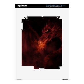 fiery dragon iPad skin
