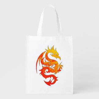 FIERY DRAGON REUSABLE GROCERY BAG