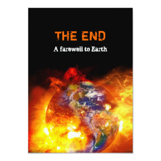 Fiery End of the World Apocalypse Party Card