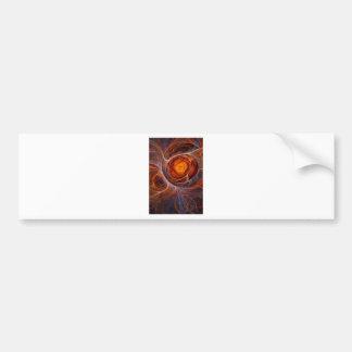 Fiery eye bumper sticker
