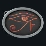 """Fiery Eye Of Horus Belt Buckle<br><div class=""""desc"""">A cool belt buckle is one of the most versatile fashion items out there, and brings a little magic to any outfit new or old. Belts are an easy way to freshen up a dull look, and can be your special added touch that makes your style uniquely yours. Express yourself...</div>"""