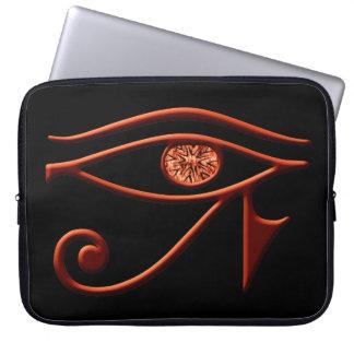 Fiery Eye Of Horus Laptop Sleeve