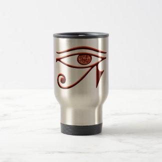 Fiery Eye Of Horus Travel Mug