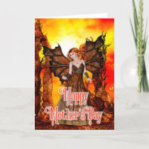 Fiery Fantasy Faerie - Mother's Day Card